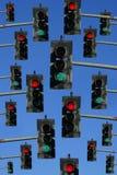 Semáforos rojos y verdes foto de archivo libre de regalías