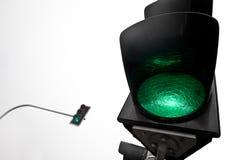 Semáforos verdes Imagenes de archivo