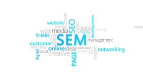 SEM, μάρκετινγκ μηχανών αναζήτησης ελεύθερη απεικόνιση δικαιώματος