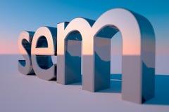 SEM Lizenzfreies Stockfoto