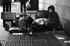 Sem abrigo de New York City Fotografia de Stock Royalty Free
