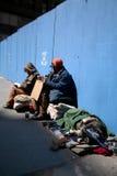 Sem abrigo em Manhattan imagens de stock