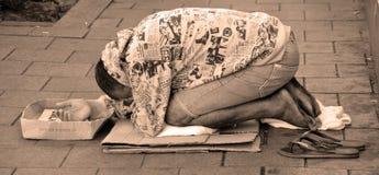 Sem abrigo em Tel Aviv Imagens de Stock
