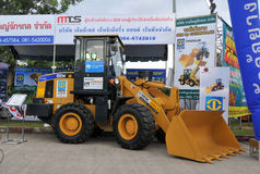 The SEM 616B tractor. SONGKHLA - August 11 The SEM 616B tractor on display at The 21st Agricultural fair on August 11, 2013 in Songkhla, Thailand stock images