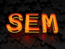 SEM - Comercialización del Search Engine Foto de archivo