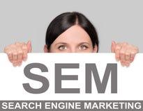 SEM concept Royalty Free Stock Image