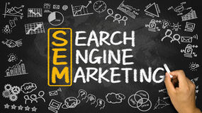 SEM concept:search engine marketing Stock Photos