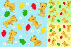Sem emenda ajustado. Ursos do bebê. Fotografia de Stock