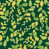 Sem emenda. As folhas e os ramos. ilustração royalty free