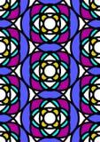 Sem emenda azul do vidro manchado ilustração do vetor