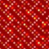 Sem emenda brilhante do Natal com flocos de neve Imagens de Stock Royalty Free