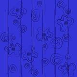 Sem emenda com as flores abstratas no estilo dos desenhos animados Foto de Stock Royalty Free