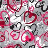 Sem emenda com corações ilustração stock
