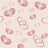 Sem emenda com corações na festa do dia de Valentim do St Foto de Stock Royalty Free