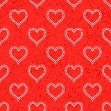 Sem emenda com corações pontilhados polca Imagem de Stock