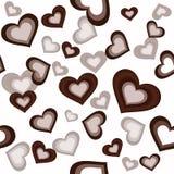 Sem emenda com elementos dos corações Foto de Stock