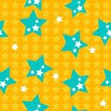 Sem emenda com estrelas azuis Imagens de Stock Royalty Free