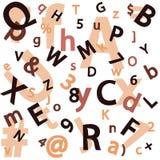 Sem emenda com um grupo de letras e de números Foto de Stock
