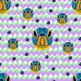 Sem emenda do retrato da tartaruga no fundo branco com a violeta Imagens de Stock Royalty Free