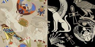 Sem emenda egípcio em duas variações Imagens de Stock Royalty Free