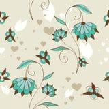 Sem emenda floral bonito ilustração stock