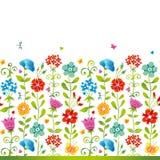 Sem emenda floral brilhante. Imagem de Stock Royalty Free