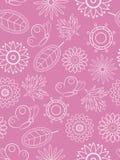 Sem emenda floral cor-de-rosa. ilustração do vetor