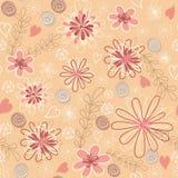 Sem emenda floral cor-de-rosa. Fotografia de Stock Royalty Free