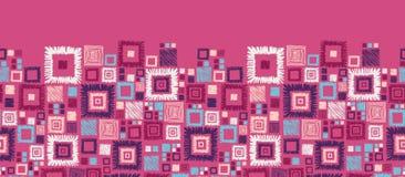 Sem emenda horizontal dos quadrados geométricos coloridos ilustração royalty free