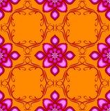 Sem emenda oriental alaranjado e cor-de-rosa Fotografia de Stock Royalty Free