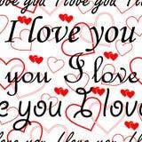 Sem emenda papel de parede do Valentim Foto de Stock Royalty Free