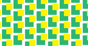 Sem emenda quadrado verde e amarelo Fotografia de Stock Royalty Free