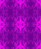 Sem emenda romântico cor-de-rosa Filigree ilustração royalty free