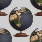 Sem emenda telhando o fundo de globos não marcado do atlas Imagens de Stock