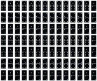 Sem emenda teste padrão do dominó de Tileable Fotografia de Stock