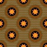 Sem emenda um teste padrão em astecas do estilo Imagens de Stock