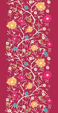 Sem emenda vertical de florescência Painterly da árvore Imagens de Stock