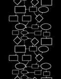 Sem emenda vertical do mapa de mente do giz de quadro-negro Fotografia de Stock Royalty Free
