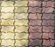 Sem-fim do tijolo na passagem Fotografia de Stock