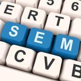 Sem Keys Shows Online Marketing Or Search Engine Optimization Royalty Free Stock Image