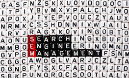 SEM Search Engine Management Stock Afbeeldingen