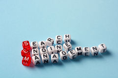 SEM Search Engine Management dices blue Royalty Free Stock Photo