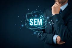 SEM Search Engine Marketing fotografía de archivo