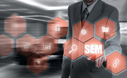 SEM-Search Engine Marketing. Business Strategy Concept Stock Photos