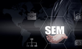 SEM-Search Engine Marketing. Business Strategy Concept Royalty Free Stock Photography