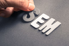 SEM Search Engine Marketing Royalty Free Stock Photos