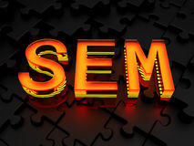 SEM - Search engine marketing Stock Photo