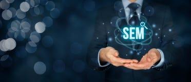 SEM search engine marketing Stock Image