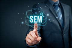 SEM search engine marketing Stock Images