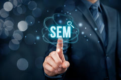 SEM search engine marketing Stock Photos